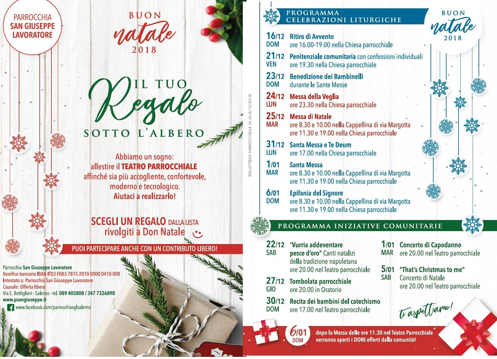 Buon Natale Napoletano.Buon Natale 2018 Programma Della Liturgia E Degli Eventi Per Le