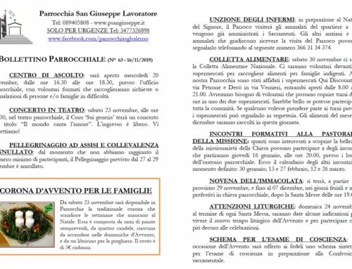 Bollettino parrocchiale n. 63